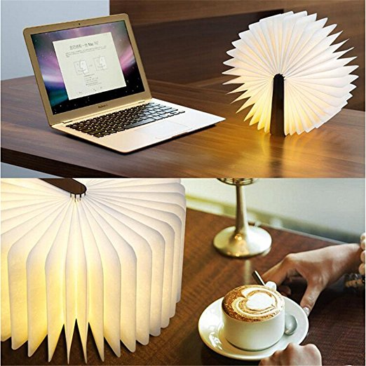2017 Hanong New Product Foldable new tyvek wood style custom portable creative usb gifts led light book