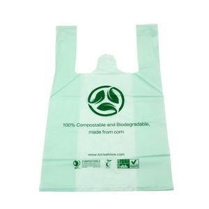 100% Certified Biodegradable and Compostable Starch Ce Certified T-Shirt Garbage Bags