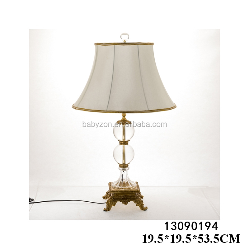 Hot sell hotel/home table lamps with classical shade for wholesale