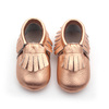 Wholesale moccasins shoes rose gold genuine leather moccasins baby