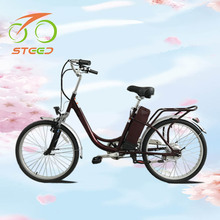 Wholesale 250w 24v 24 inch retro style cheap chopper electric bicycle for old people for 2017 sale