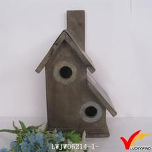 vintage small solid wood bird house design