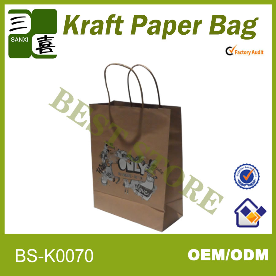 kraft paper bag with tin tie as the mini gift white bag for shopping