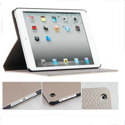 Newest Product Luxury Weave Shape Book Stand Leather Case For iPad Air