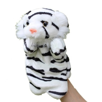 white tiger stuffed animal tiger band puppet