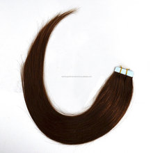Hot sale silky straight 100% virgin human hair double side tape hair for women