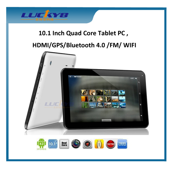 10 inch quad core MTK8127 GPS HDMI 512MB 8GB android 4.4 game android tablet