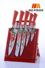 Stainless Steel Coating Knife Set With Acrylic Block