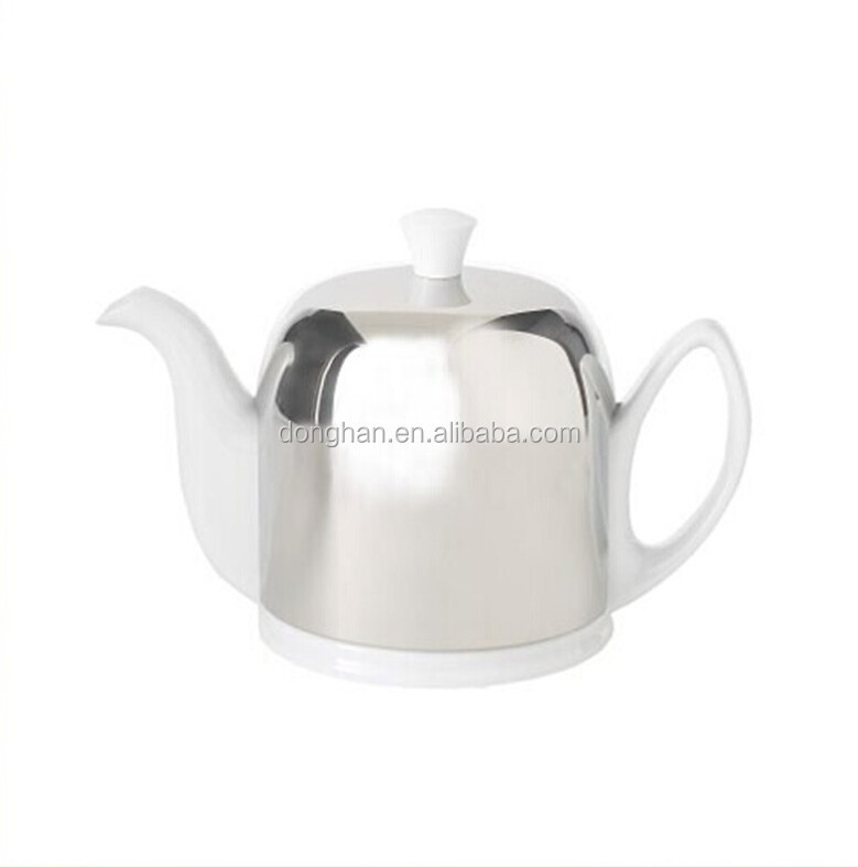 Unique Shape Tea Pot With Stainless Steel Lid And Strainer
