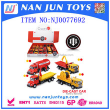 2016 kids diecast construction car model for sale
