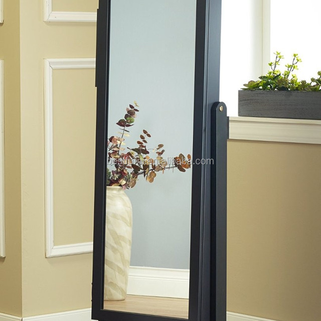 Cheval Mirror Floor Standing Dressing Mirror With Jewelry Wardrobe