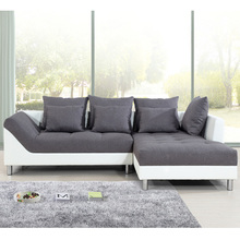 PVC Ready Made Covers Leather Sectional Sofa With The Ottoman Good Price
