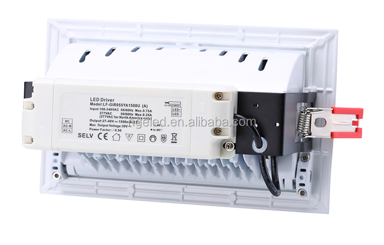 led downlight led 28w 38w 60w smd cob adjustable rectangular led downlight