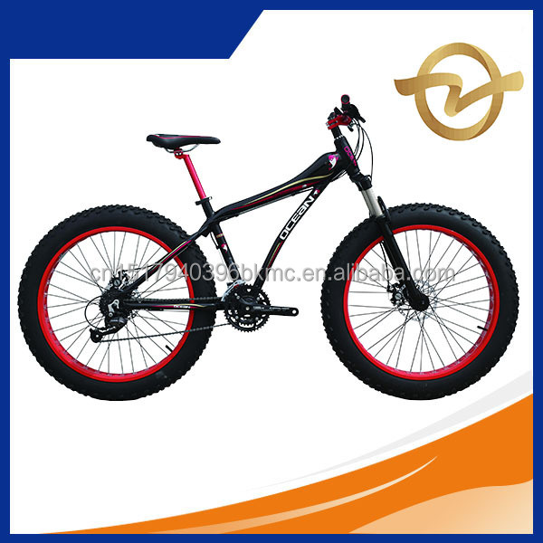 26 Beach Cruiser and Fat tyre bike bicycle 27SP (27 Speeds) alloy frame rim, alloy crown suspension fork, michanical disc brake