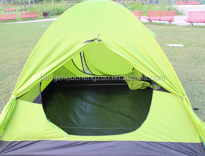 High Quality Aluminum Pole Double Layers 3-4 Person Foldable Waterproof Outdoor Camping Tent, CZX-118 Backpacking Tent,Dome Tent