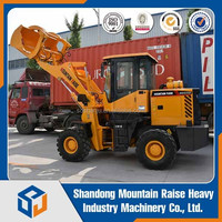 2016 new style 1.5 Ton small Wheel Loaders with pallet fork