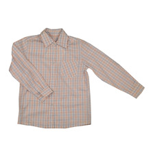Children Boy Plaid Blouse / Vintage Blouse for Young Boys3A-12A / Wholesale Vintage Shirts