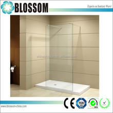 European design simple frameless glass bathroom shower wet room