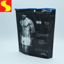customized design resealable compound zip lock plastic packing bag for clothes