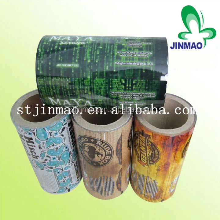 Heat seal plastic bags roll film packing