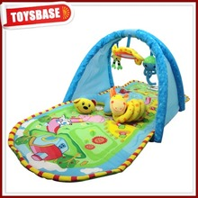 Rainforest baby blanket beautiful cotton plush baby play gym mats wholesale