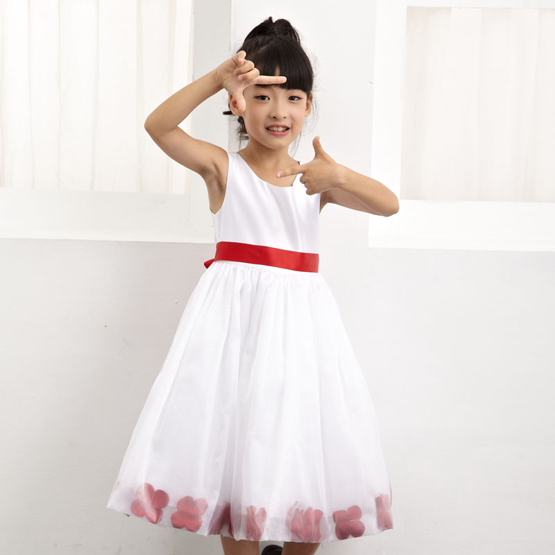 2016 Latest Children Kids Fashion Frock Wedding Dress Model For 9 Years Old Flower Girl