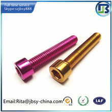 anodize hex socket head machine screw nut and bolt