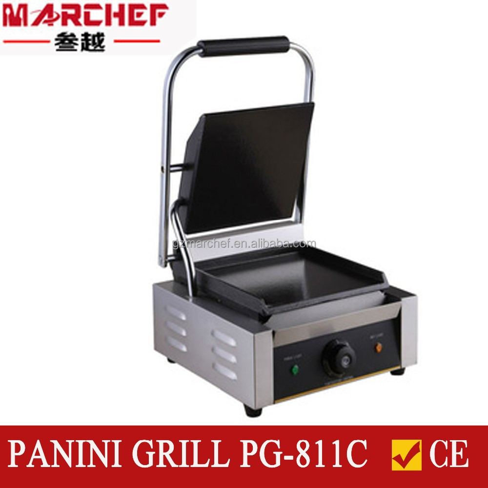 PG-811C Full Smooth Hotplate Sandwich Press Machine/Contact Grill/Steak Grill