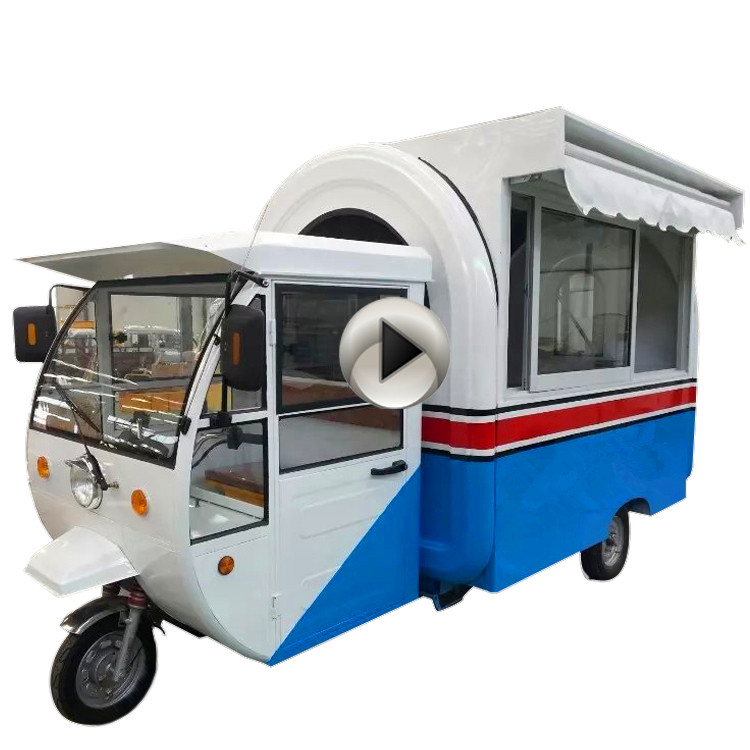 Best selling motorcycle fast food cart for chocolat in Europe