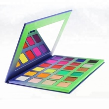 wholesale new design custom private label high pigment cardboard OEM eyeshadow palette