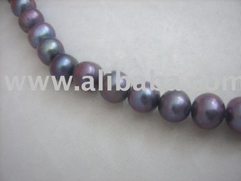 Loose Freshwater Pearl Jewelry Dyed Black Pearls Loose Rice Pearls