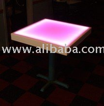 "Glowing 30"" Tables with LED lights and remote"