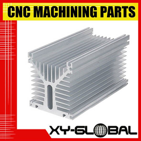 High quality OEM ODM anodized silver aluminum 6063 extruded profile mechanical product