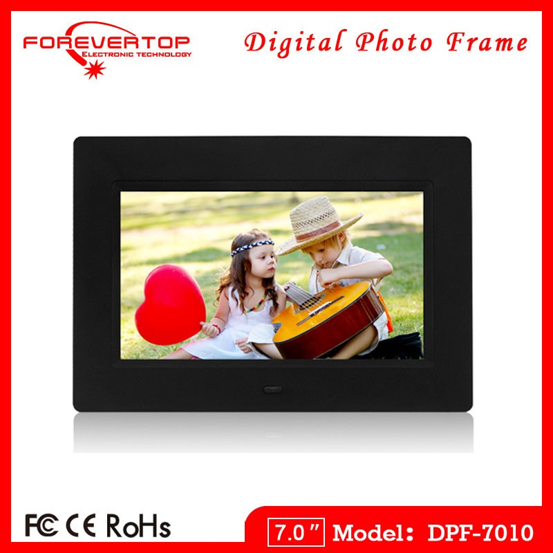 2016 factory low price 7 inch sex video digital photo frame