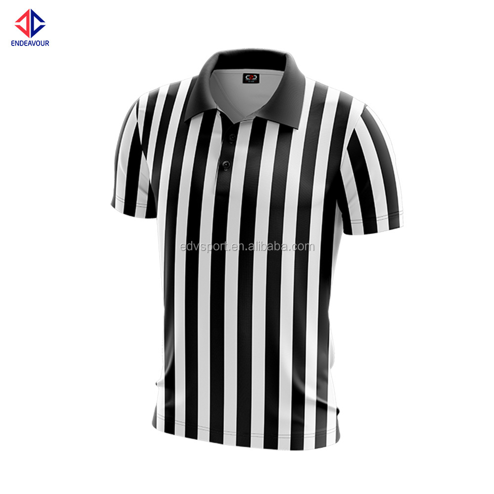 Custom logo sublimation soccer referee jersey