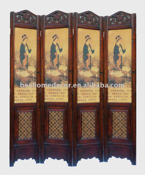 furniture screen, office movable room divider, retro vintage antique wind screen