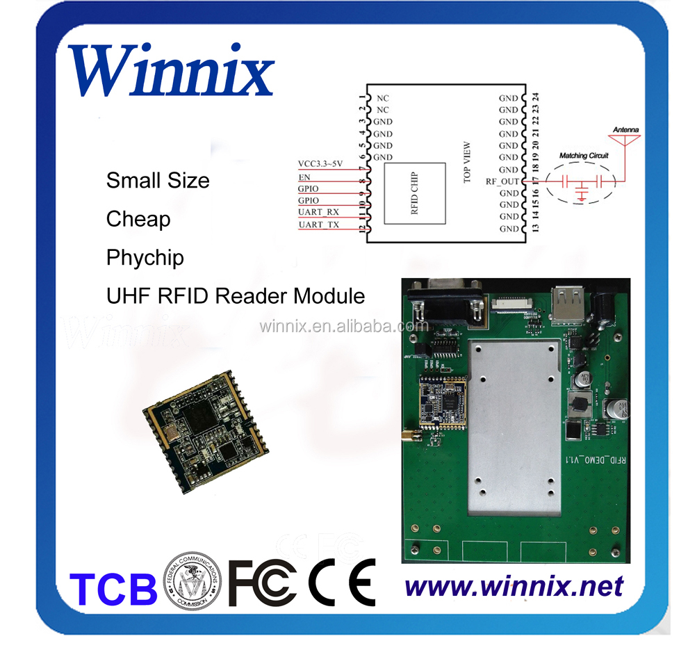 2meter range 902-928mhz micro type UHF RFID Reader Module for mobile reader