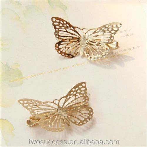 Wholesale Jewelry Butterfly Shaped Ladies Fancy Magnetic Hair Clip .jpg