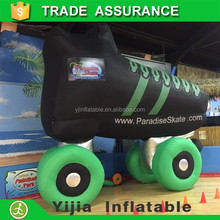 Factory Shipped order 15ft large Inflatable giant skate for promotion