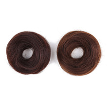 Human Hair Chignon non-Remy Hair Donut Buns Up Do Brazilian Hair Extensions