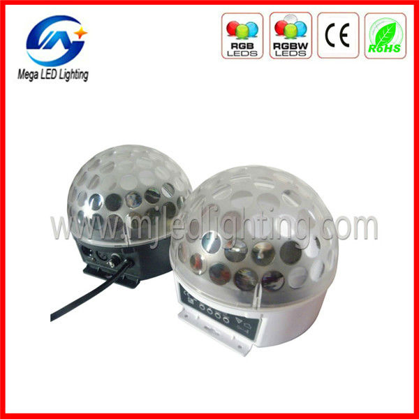 DMX 6pcsx3w RGB LED crystal magic disco ball light 12v