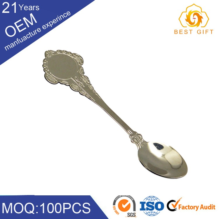 Cheap Stainless Steel small measuring spoon with print logo and polishing