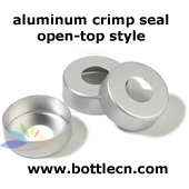 silver aluminum, 20mm aluminum crimp seal for autosampler headspace analysis