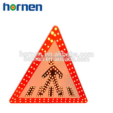 Intergrated led flashing traffic signs
