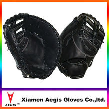 black 1st baseball glove taiwan top grain cowhide Baseball Gloves Manufacturer