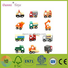 Factory Sale 12 Models a Set Mini Wooden Model Toy Car