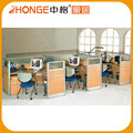 Cross Shape 3 Person Aluminum Partition Office Cubicle Workstation /Office Furniture