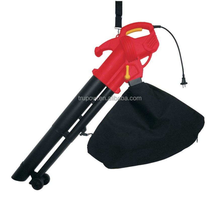 Garden Tool Electric Leaf Vacuum Blowers With Air Speed 250km/h