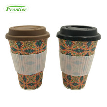 Wholesale Personalized Unbreakable 16oz Cup Bamboo Fiber Mug
