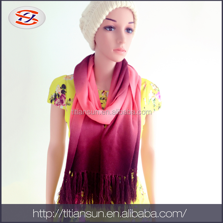 Alibaba China Supplier Viscose Scarf/ Knitted Scarf Made With Acrylic Yarn